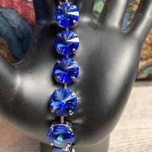 "Handmade Swarovski Crystal ""Sapphire"" Bracelet"